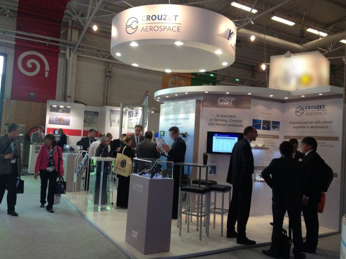 Booth Crouzet aerospace at the International Paris Air Show